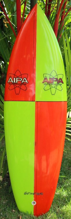 Ben Aipa twin-fin w/ spiral V tail serial #