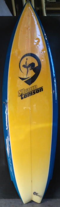 Shaun Tomson 5'7 twin fin shaped by Rusty Preisendorfer (early 1980s)