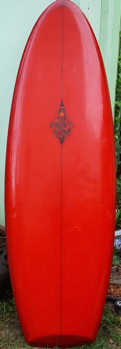 Hobie Alter Positive Force IV model twin-fin, prototype (early 1970s)