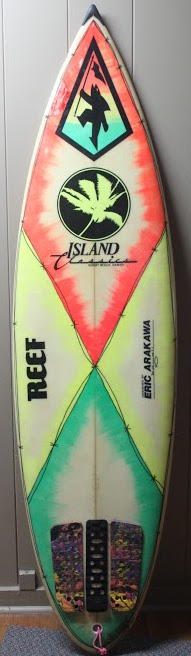 Derek Ho's personal 6'0 shortboard by Eric Arakawa (late 1980s/early 90s)